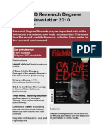 Research Degrees Newsletter Apr 2010