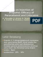 Pain on Injection of Propofol
