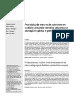 Produtividade e Teores de Nutrientes Em Cladódios de Pitaia Vermelha Utilizando-se Adubação Organica e Granulado Bioclástico
