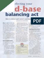Acid base balancing act