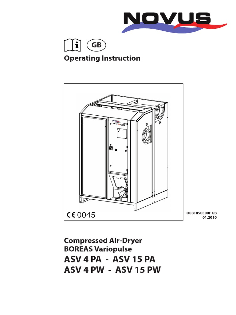 Air Dryer Manual | Refrigeration | Air Conditioning on