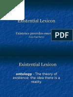 existential lexicon