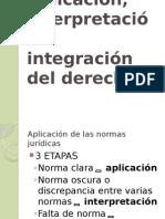 u5 Aplicación, Interpretación e Integración Del Derecho