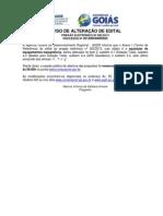 Aviso de Alteração de Edital Pregão Eletrônico 002-2013