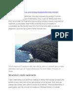 Minerals in Sedimentary Rocks