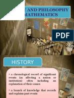 History and Philosophy of Mathematics