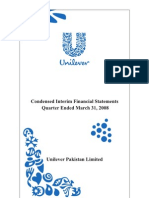 Financial Statement Unilever