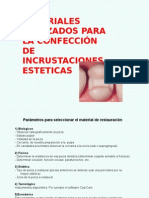 Materiales Esteticos en Reconstruccion Dentaria