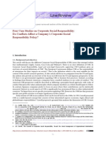 Four Case Studies on CSR