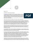 SU letter on NCAA appeal, Gross, et al