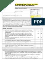 Consumer Experience Director Job Description