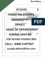 Pakistan Studies(Junaid Akhtar) Section 2- GEOGRAPHY