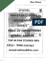 Pakistan Studies(Junaid Akhtar) Section 3- GEOGRAPHY