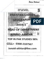 Pakistan Studies(Junaid Akhtar) Section 3- GEOGRAPHY