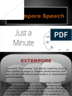 Extempore Speech
