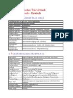 Rheologisches Wörterbuch Englisch - Deutsch