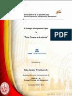 Final Paper. Tata Communications RABE