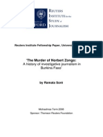 The Murder of Norbert Zongo - A Historydgdgdgdg of Investigative Journalism in Burkina Faso