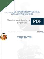 Presentacion PROYECTO DE INVERSIÓN EMPRESARIAL CORAL COMUNICACIONES