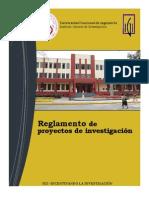 Reglamento de Proyectos de Investigacion