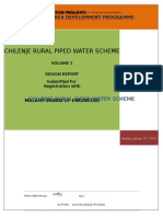 WORLD VISION MALAWI-Design Report for Chilenje Piped Water Scheme 14
