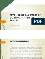 PSYCHOLOGY OF LIGHTING