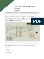 582_Password Based Door Lock System Using 8051 Microcontroller