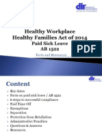 Paid Sick Leave Facts and Resources