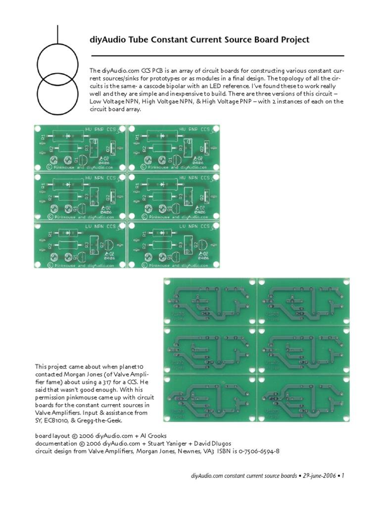 DiyAudio CCS | Bipolar Junction Transistor | Electronics
