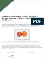 Cálculo Caudal de Avenida en España