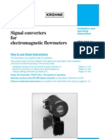 Signal Converters for Electromagnetic Flowmeters