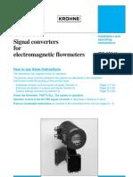 Signal Converters for Electromagnetic Flowmeters