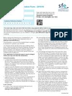 Online Declaration Form 1516