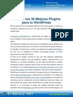 PDF Conoce Los 30 Mejores Plugins Para Tu Wordpress