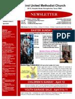 Newsletter for April 2015