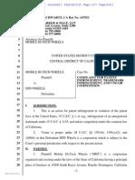 Mobile Hi-Tech Wheels v. DFD Wheels - Complaint