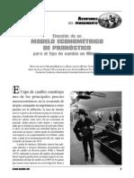 Eleccion de Un Modelo Econometrico de Pronostico Para El Tipo de Cambio en Mexico