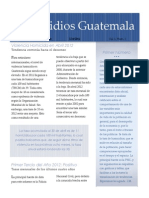 Homicidios Guatemala Abril2012