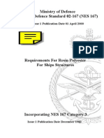 NES 167 Requirements for Resin Polyester for Ship Structures Category 3