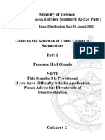 NES 524 Part 1 Guide to the Selection of Cables Glands in Submarines