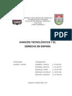 AVANCES TECNOLÓGICOS Y EL DERECHO EN ESPAÑA