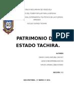 PATRIMONIO TACHIRENSE