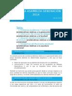 1era Asamblea Generación 2014 18-03-2015