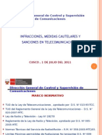 Infracciones y Sanciones de Telecom (v.ortiz-DGCSC)