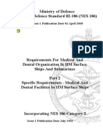 NES 106 Part 2 Requirements for Medical and Dental Organization in HM Surface Ships and Submarines