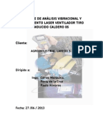 Análisis Vibracional y Alineamiento Ventilador Inducido Caldero
