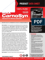 Beta Alanine as CARNOSYN, the only patented L-carnosine supplement for performance by Max Muscle Sports Nutrition 2015