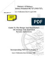 NES 727 Guide to the Design and Manufacture of Awnings and Associated Screens and Covers Category 3