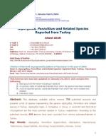 Aspergillus, Penicillium and Related Species