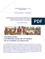 histoire du droit médiéval